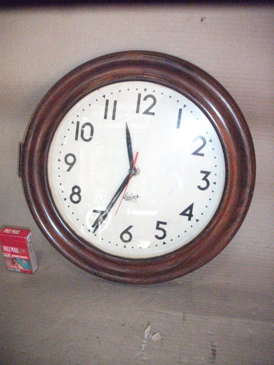 Reloj de pared madera el ctrico alem n en - Reloj pared madera ...