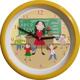 Reloj De Pared Maestra Con Niños