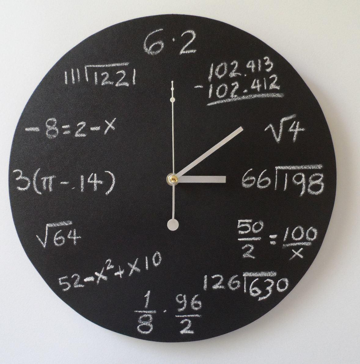 Reloj de pared matem tico ii en mercado libre - Relojes de pared diseno ...