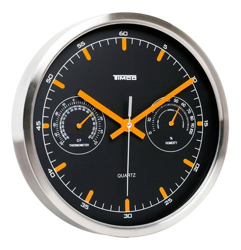 reloj de pared medidor temperatura y humedad 25.8 cm ra-24a