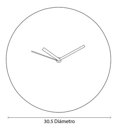 reloj de pared minimalista moderno oficina 30 cms diámetro