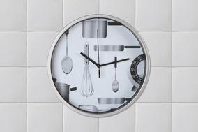 Reloj De Pared Moderno Redondo 22 Cm Diseño Cocina