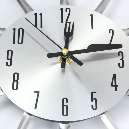 reloj de pared moderno tenedor cuchillo acero inoxidable