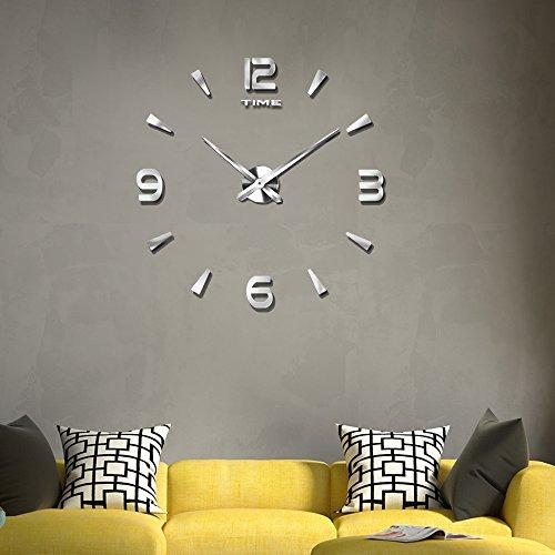 Reloj de pared moderno vangold grande 3d diy para sala - Relojes para decorar paredes ...