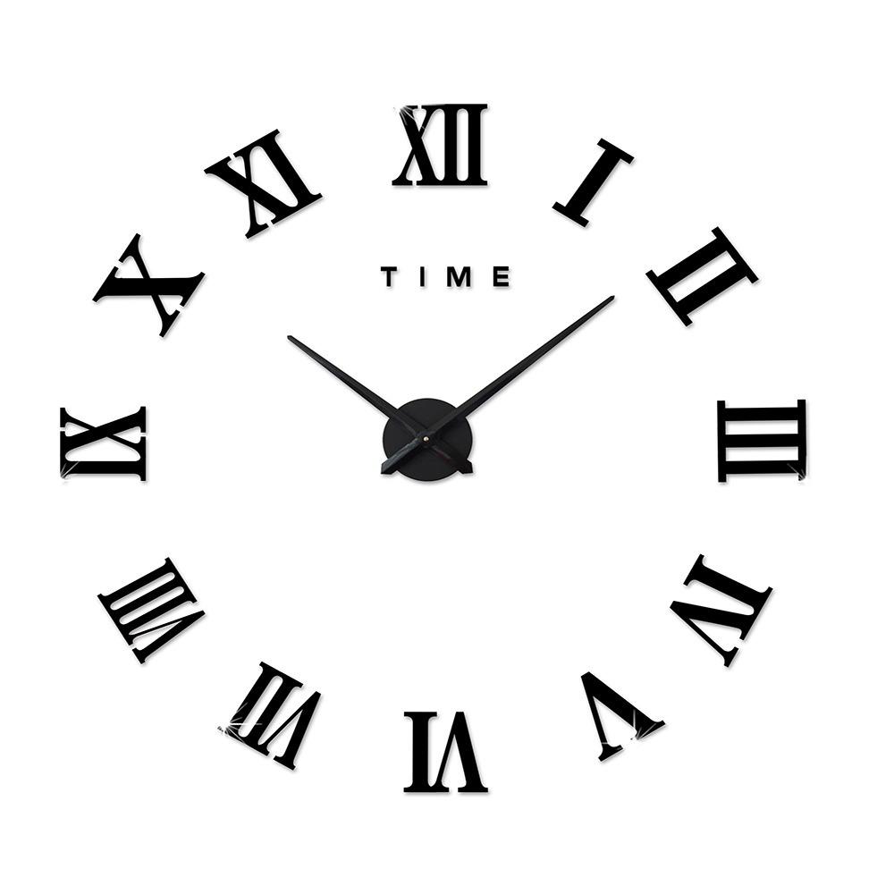 Reloj De Pared Msparkling Efecto Espejado Con Número Romano