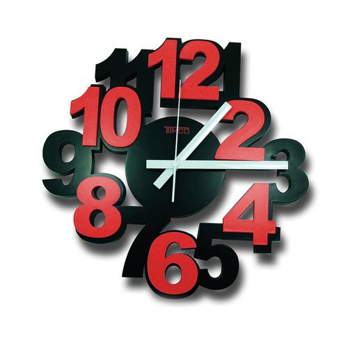 reloj de pared números 3d loc-ro