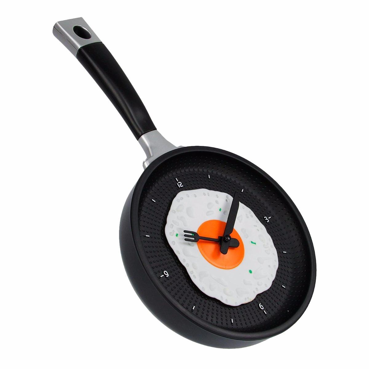Reloj de pared para cocina dise o sarten con huevo en mercado libre - Relojes de cocina modernos ...