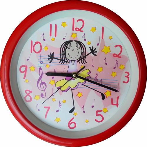 reloj de pared para niña ballet