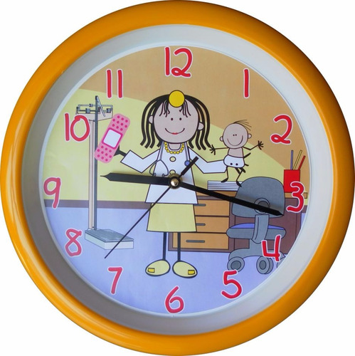 reloj de pared pediatra