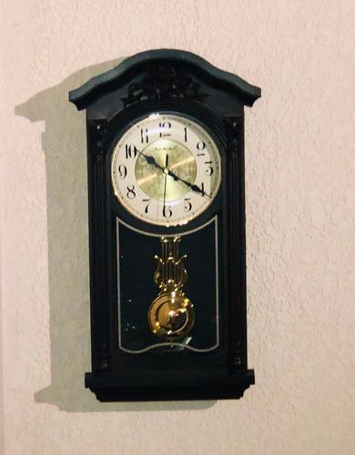 reloj de pared pendulo dorado 50 cm sonido