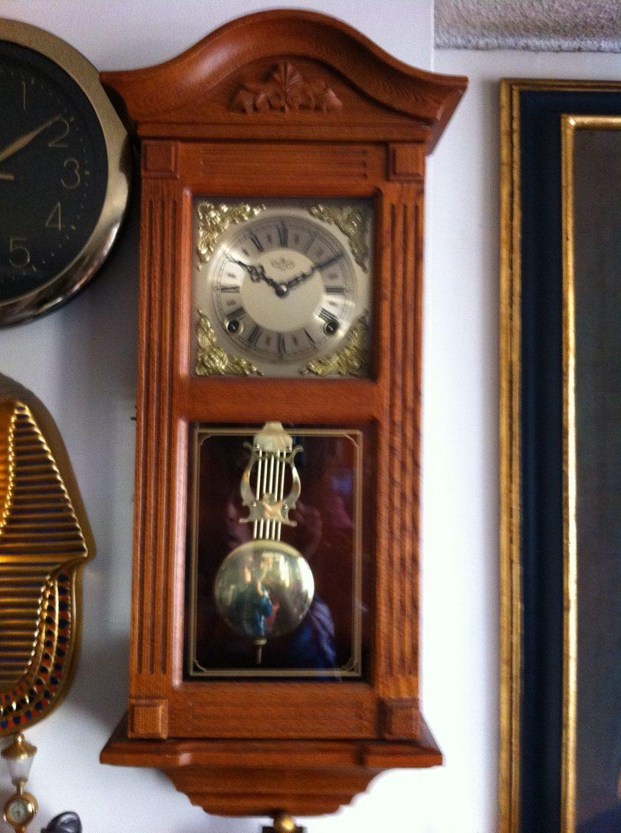 Reloj de pared p ndulo elegante antiguo cuerda 30 dias for Relojes de pared antiguos de pendulo