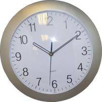 reloj de pared plateado 30cm.