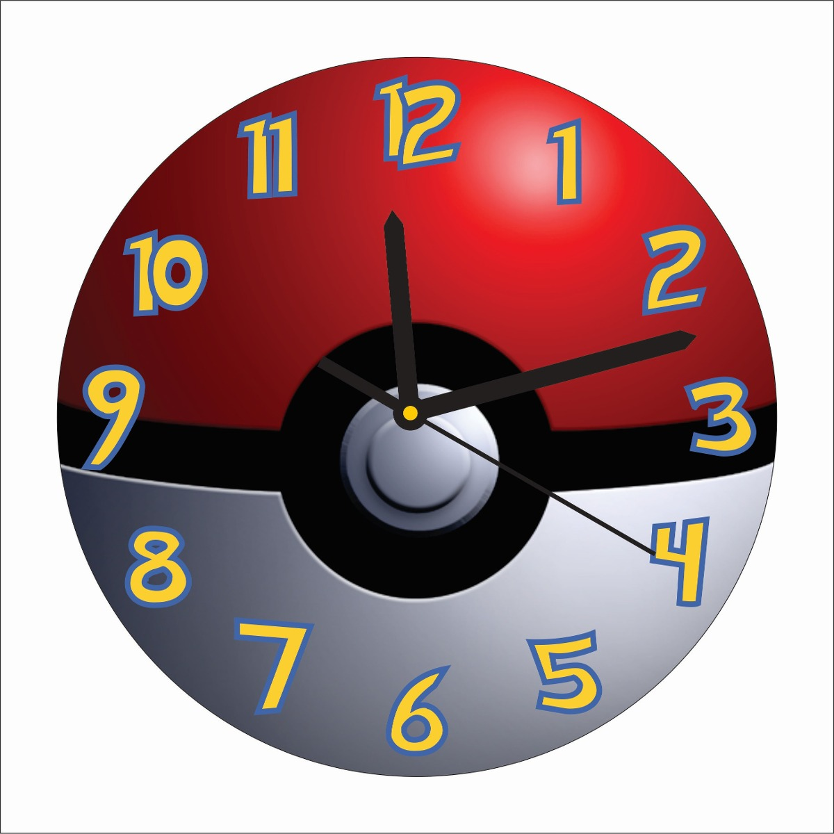 Reloj De Pared Pokemon Pokebola Mdf 195 00 En Mercado Libre # Muebles Pokemon Mercadolibre