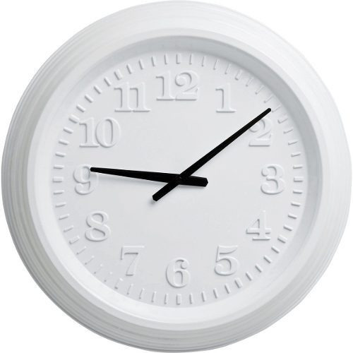reloj de pared reflect white shiny kare (36263)