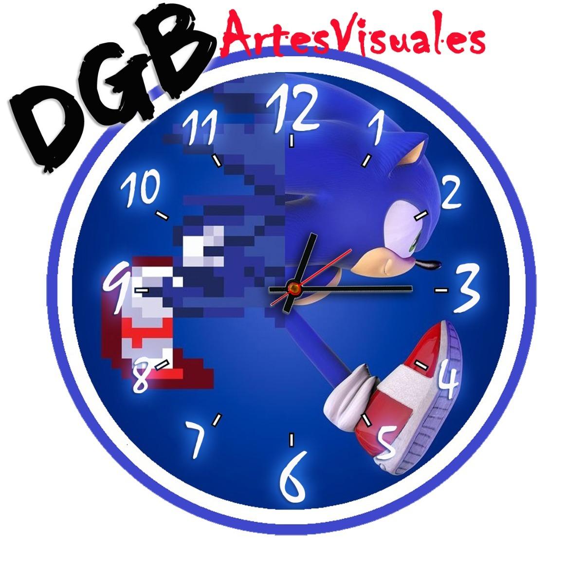 f2af958a03ce reloj de pared sonic infantil!!!!unicos 30cm. Cargando zoom.