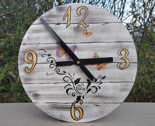reloj de pared vintage 30cm, mdf fibrofacil 6mm
