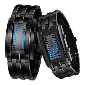 Reloj De Parejas Electrónico Impermeable Binario Con Luz Led