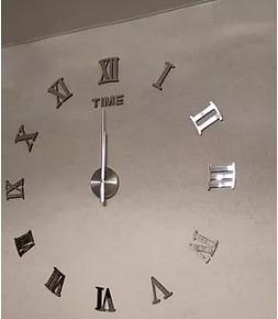 Reloj De Pares Espejo Grande 3d Numeros Romanos Regalo