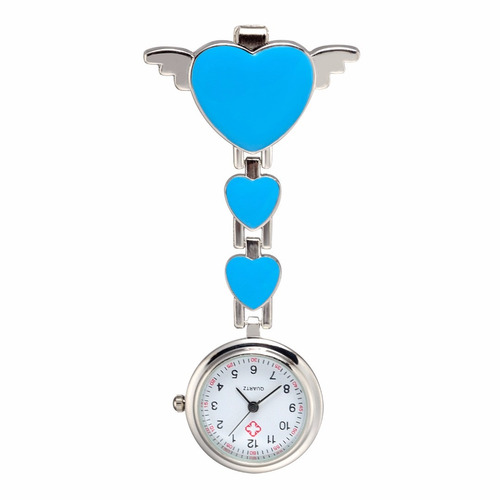 reloj de pinza enfermera - corazón con alas