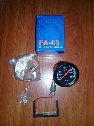 reloj de presion aceite mecanico faria fa-03