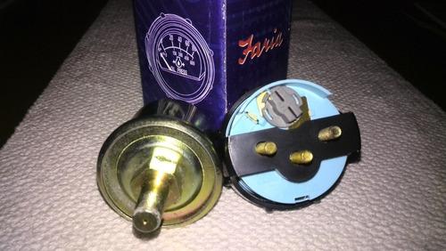 reloj de presión de aceite c/valvula faria f-503