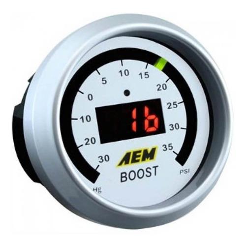 reloj de presión de turbo aem