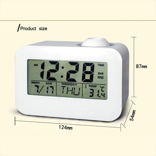 reloj de proyección lcd mesa escritorio electrónica reloj de
