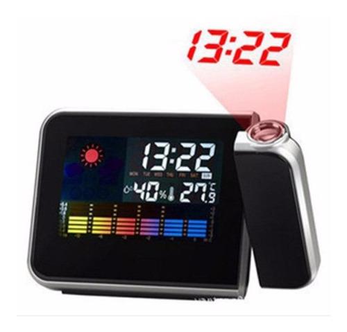 reloj de proyección termómetro y medidor de humedad higrome