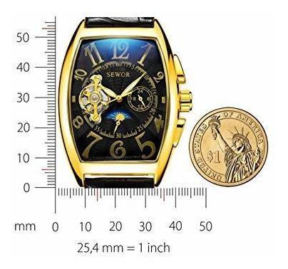 reloj de pulsera automatico para hombre con diseño de luna