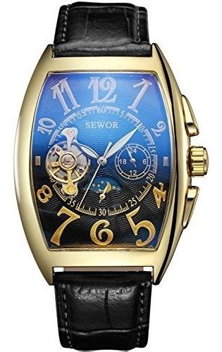 reloj de pulsera automatico para hombre con diseño de luna a