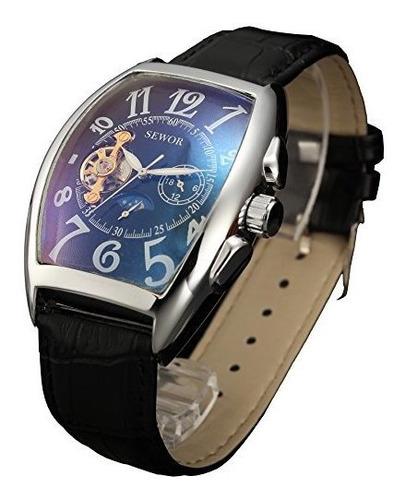 reloj de pulsera automatico para hombre con forma de luna y
