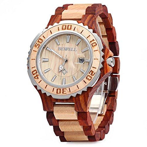 reloj de pulsera bewell 100bg reloj de cuarzo analógico de m
