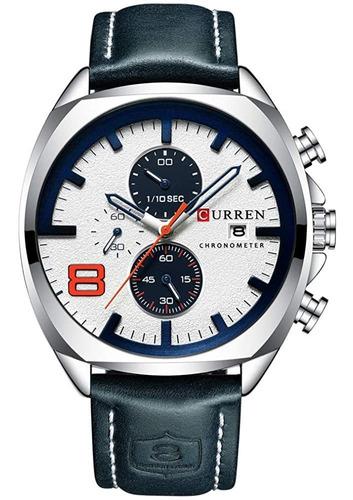 reloj de pulsera curren para hombre, reloj analógico de cuar