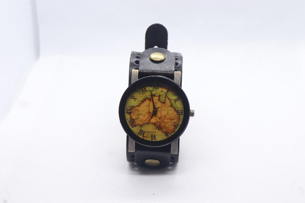 De Piel Australia Pulsera Continente Tipo Reloj eBdCxo