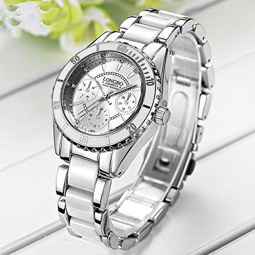 a2bc961fc118 Reloj De Pulsera De Ceramica Y Aleacion Para Mujer Esfera Bl ...