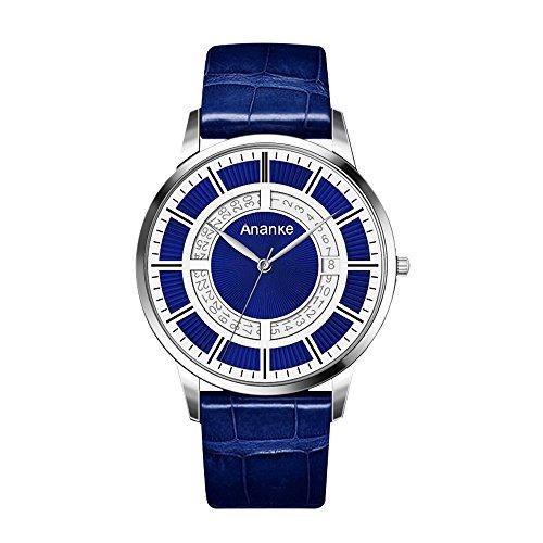1dea6af519e7 Reloj De Pulsera De Cuarzo De Cuero Azul Ananke Para Hombre ...