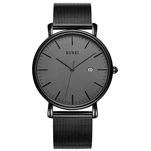 Boutique en ligne 6d736 6fd26 Reloj De Pulsera De Cuarzo Delgado Burei Para Hombre Con Ban