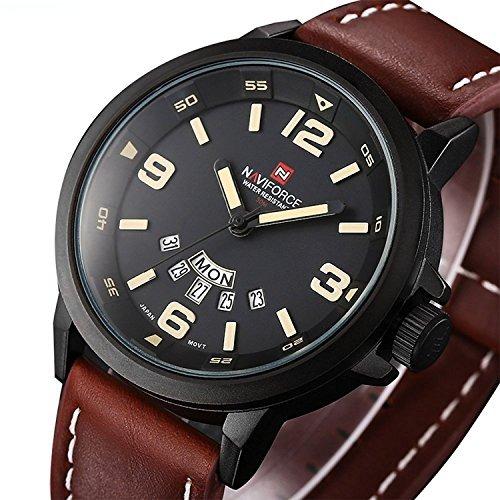 1f2431e45b35 Reloj De Pulsera De Vestir Para Hombre Con Correa De Cuero M ...
