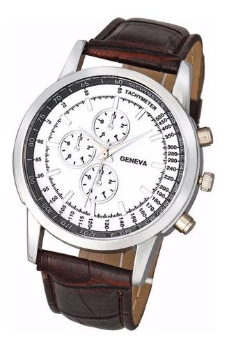 reloj de pulsera geneva hombre marrón