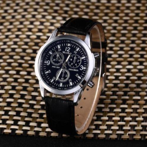 Reloj De Pulsera Moda Para Hombre De Cuero Militar Informal ... 7aef8316373b