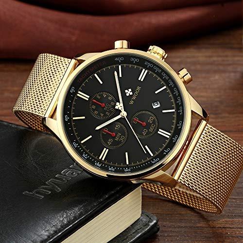 reloj de pulsera para hombre cronografo impermeable analogic