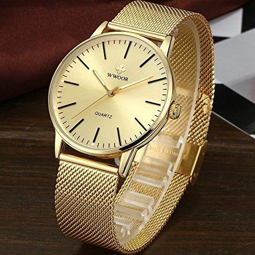 reloj de pulsera simple y delgado para hombre analogico de c