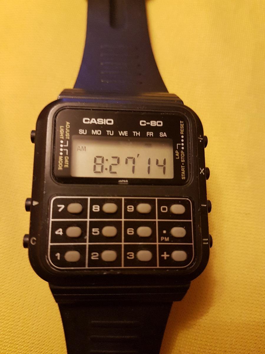 ce4b7fa95883 reloj de pulsera vintage casio c-80 calculator. Cargando zoom.
