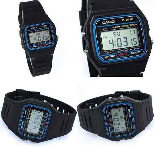 reloj de pulso casio f-91w original hombre