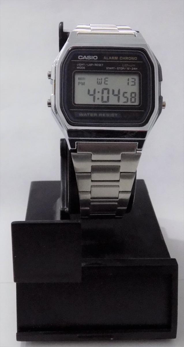 7592be17b7e5 reloj de pulso digital casio a158w retro plateado unisex. Cargando zoom.