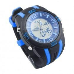 reloj de pulso hombre silicona cronometro y luz sport color