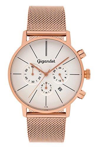 reloj de quartz de hombre gigandet minimalismo cronógrafo an