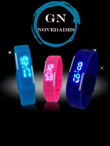 reloj de silicona con números led