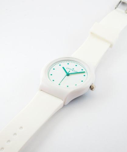 reloj de silicona pineapple honey con verde pastel
