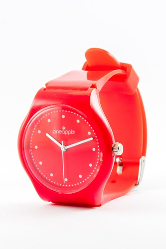 reloj de silicona pineapple honey rojo